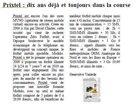 Article La Provence - 03.12.2014