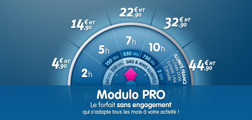 Forfait mobile Modulo Pro