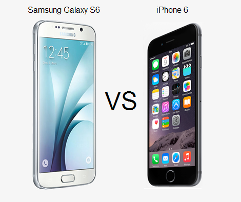 iphone 6 vs samsung galaxy s6 comparaison samsung galaxy s6 vs iphone 6 quel est le 1468