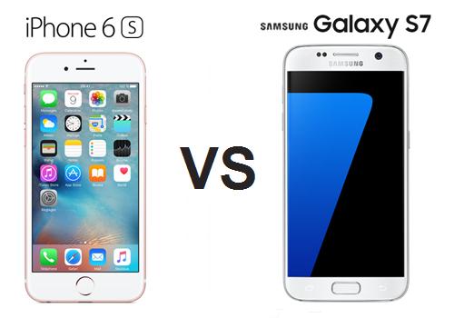 comparaison samsung galaxy s7 vs iphone 6s quel est le meilleur prixtel. Black Bedroom Furniture Sets. Home Design Ideas